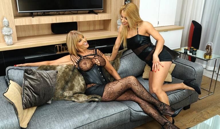 Hot MILF having great fun with a steamy lesbian mom